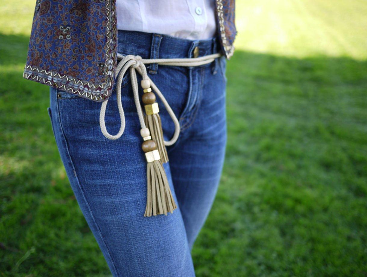 Charm DIY Gucci-Inspired Tassel Belt
