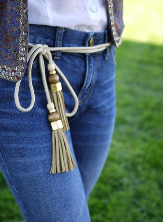 DIY Gucci Tassel Belt