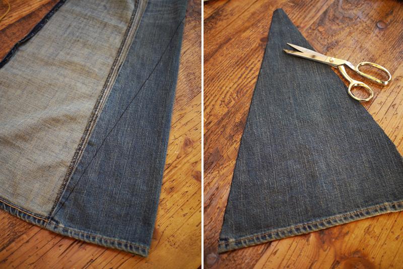 Как сделать клеши из джинс