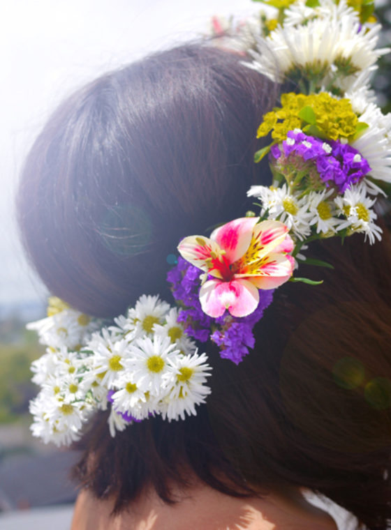 DIY Midsummer Flower Crown