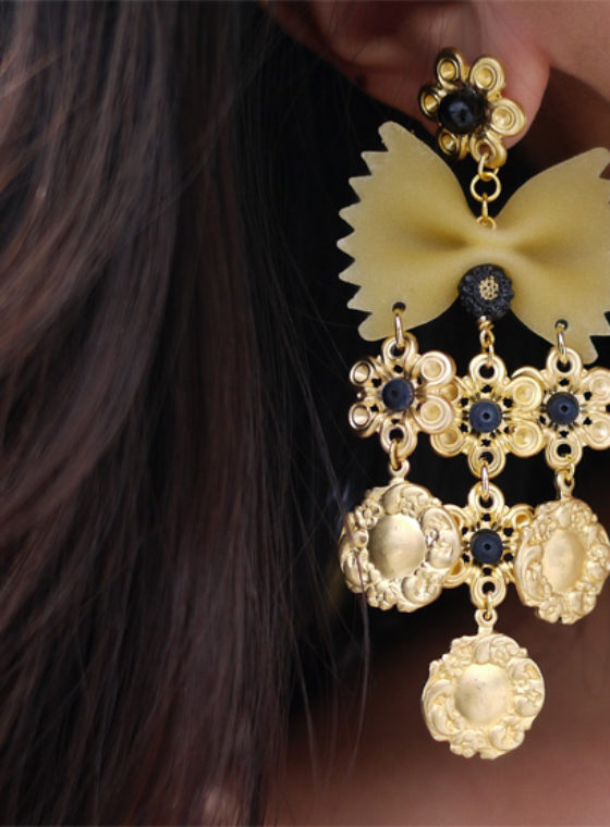 DIY Dolce & Gabbana Pasta Earrings
