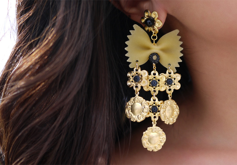 enamel shopstyle earrings crystal xlarge dolce browse gabbana tone and gold