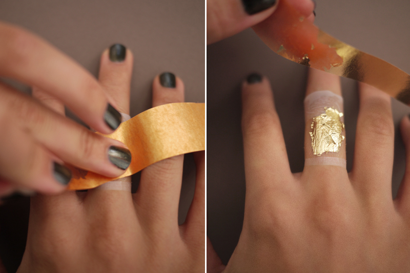 DIY Gold Leaf Faux Jewelry Honestly WTF