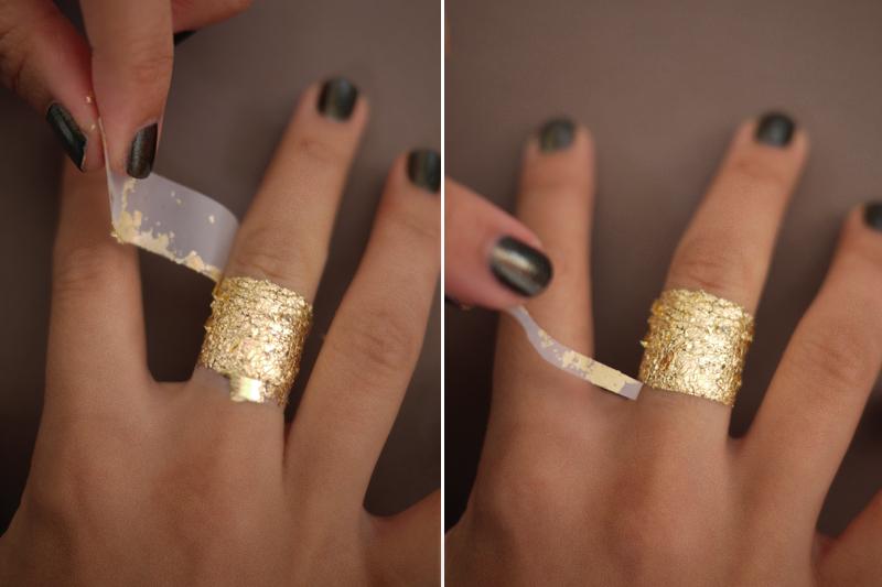 DIY Gold Leaf Faux Jewelry – Honestly WTF