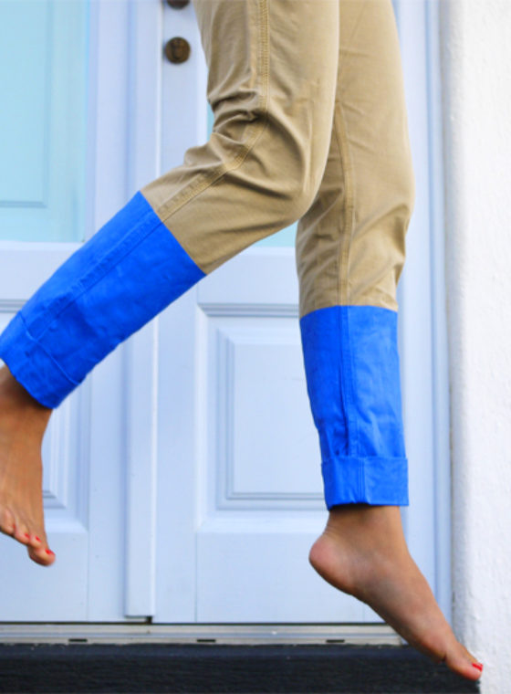 DIY Color Blocked Pants
