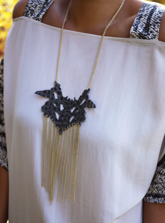 DIY Sachin + Babi Rorschach Necklace
