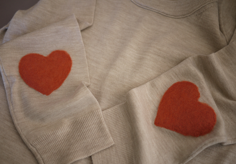 Diy elbow patch honestly wtf ta da your heart shaped elbow patches are finished maxwellsz