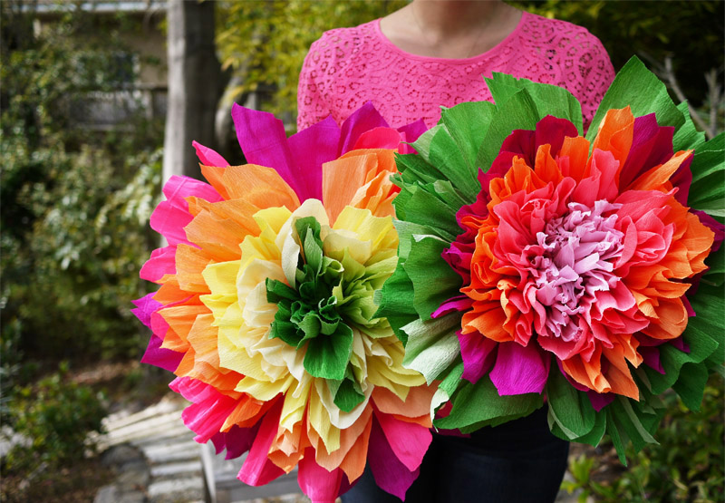 Diy crepe paper flowers honestly wtf youll need mightylinksfo