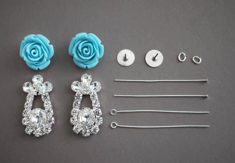 DIY Prada Rose Earrings