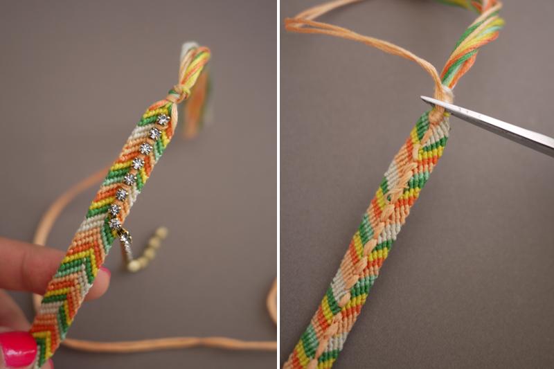 Фенечка нитки и бисер