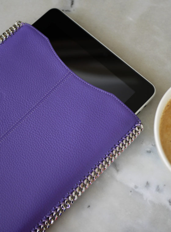 DIY Chain Trimmed iPad Sleeve