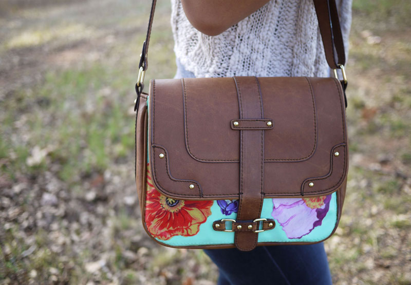 DIY Découpage Floral Bag \u2013 Honestly WTF