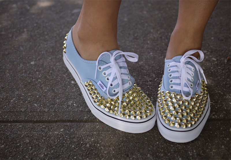 DIY Studded Sneakers Honestly WTF