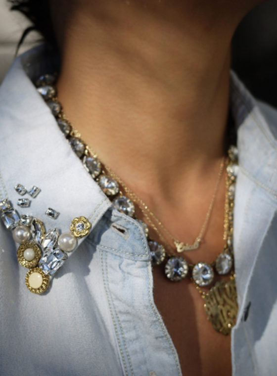 DIY Embellished Denim Shirt