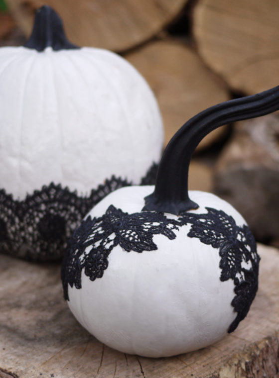DIY Lace Pumpkins