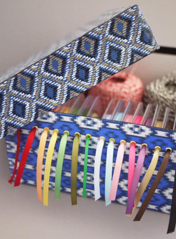 DIY Ribbon Storage Box