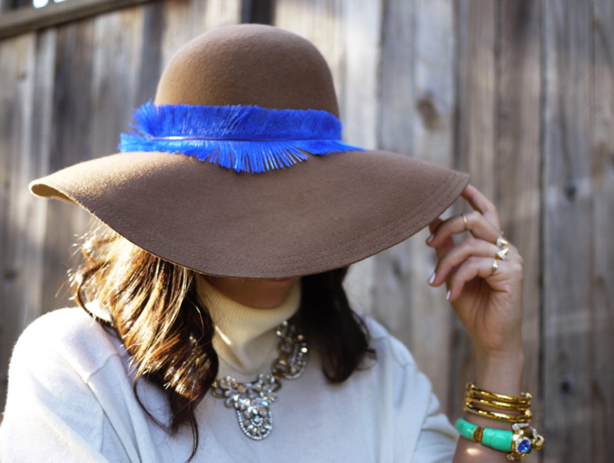 208b6831c DIY Feather Hat – Honestly WTF