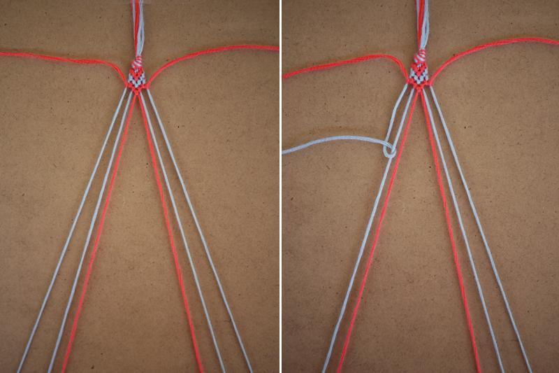 Сделать браслет из ниток для вязания