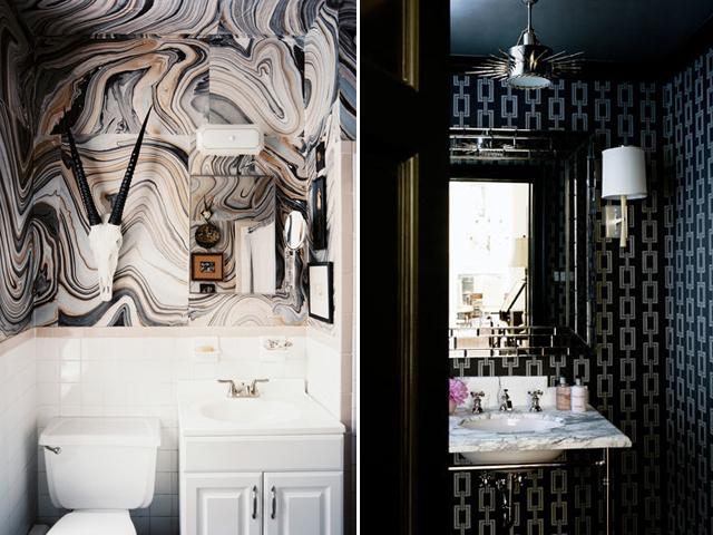 Elle decor black and white wallpaper images