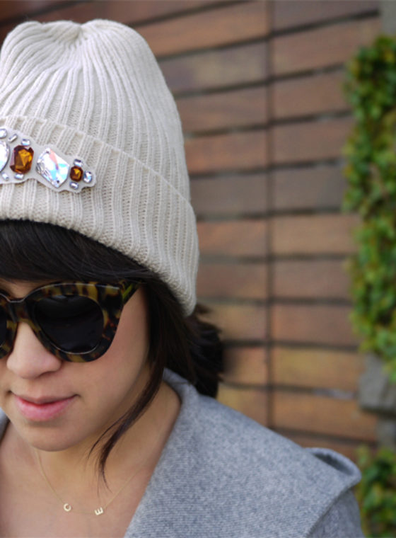 DIY Jeweled Beanie