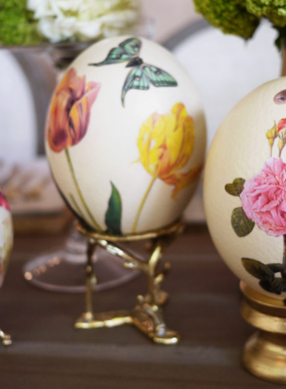 DIY Decoupage Eggs