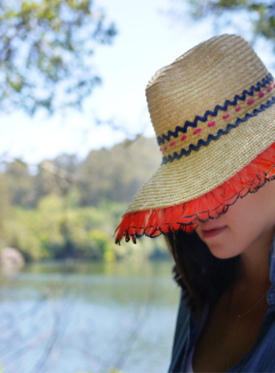DIY Straw Hat With Lola Hats