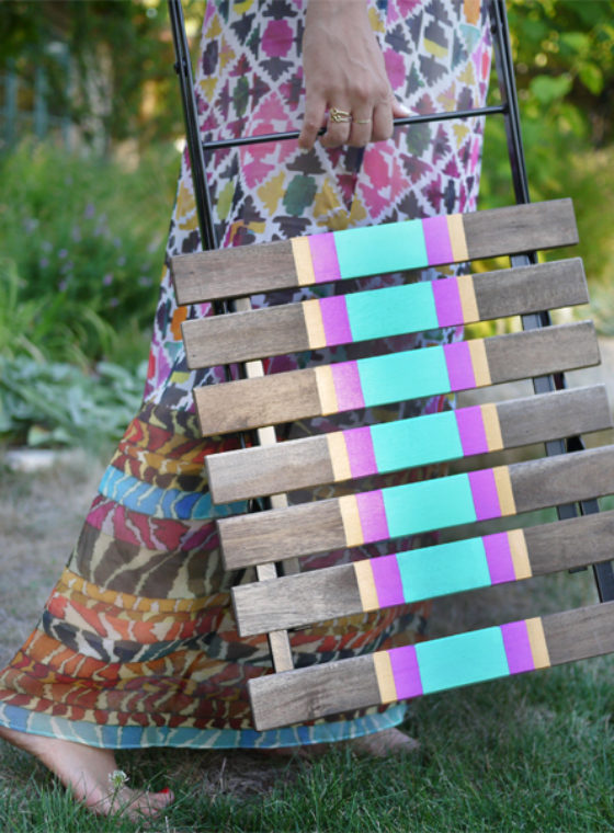 DIY Striped Chairs
