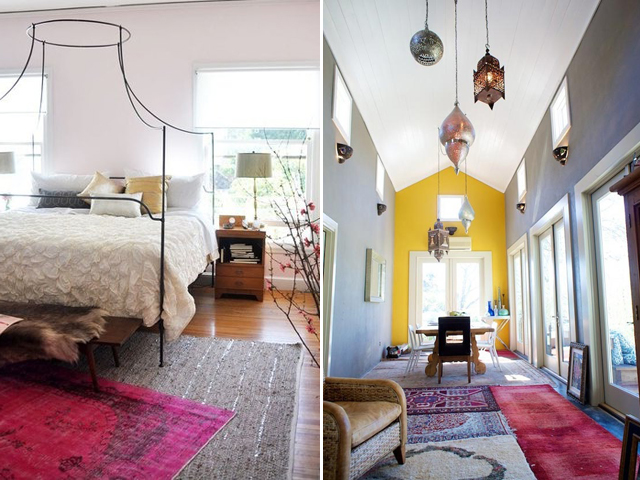From Apartment Therapy Source Layered Rugs