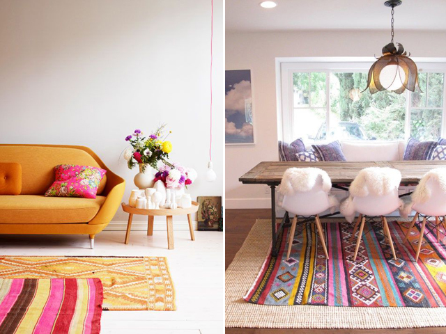 Rugs Over Carpet Apartment Therapy Textiles And Ideas