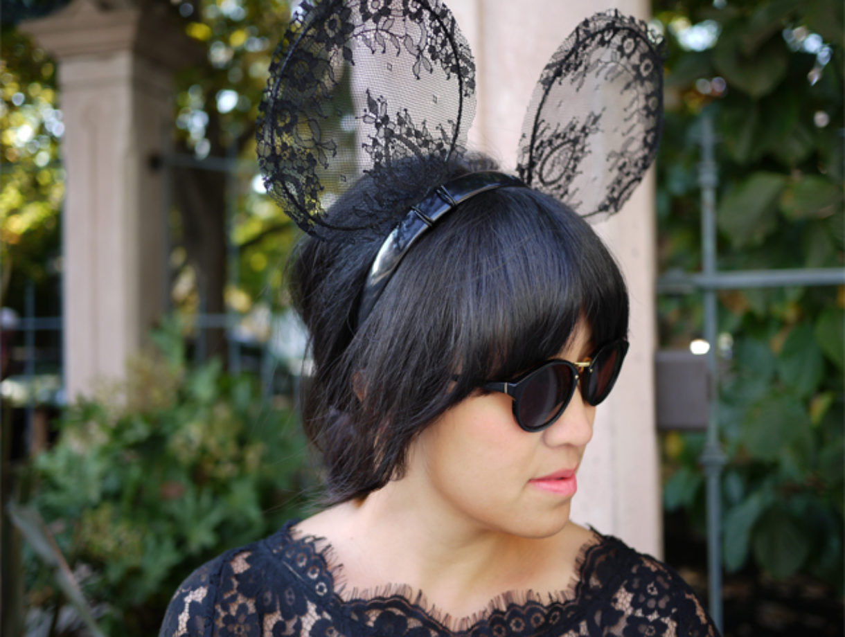 Diy Lace Mickey Mouse Ears Honestly Wtf