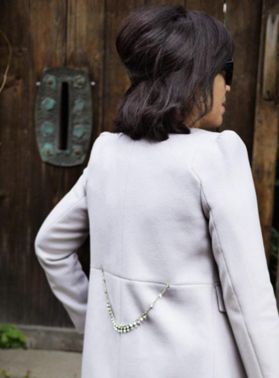 DIY Crystal Belted Coat