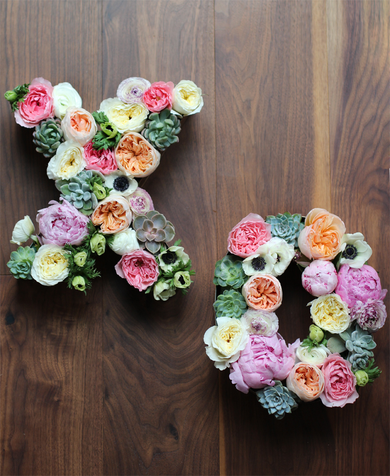 Diy Floral Letters Honestly Wtf