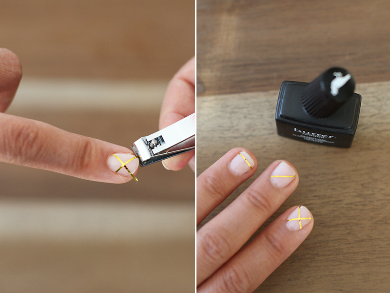 DIY Gold Striped Nails – Honestly WTF