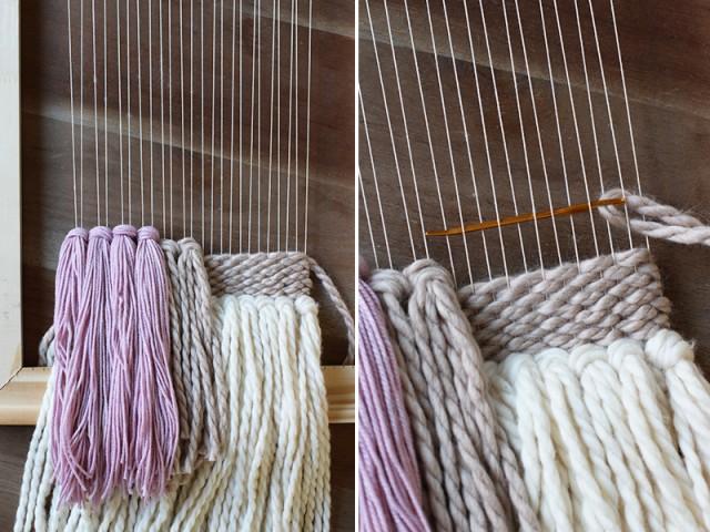 Weaving Wall Hanging diy woven wall hanging