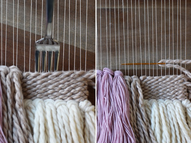 how to finish a weaving