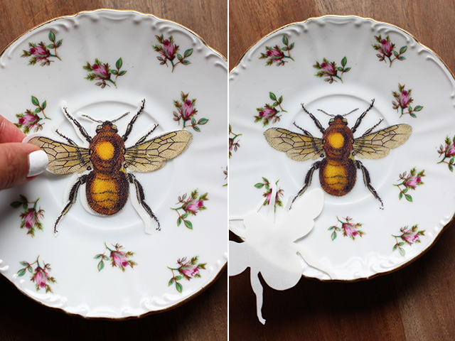 Diy upcycled vintage plates for Diy ceramic plates