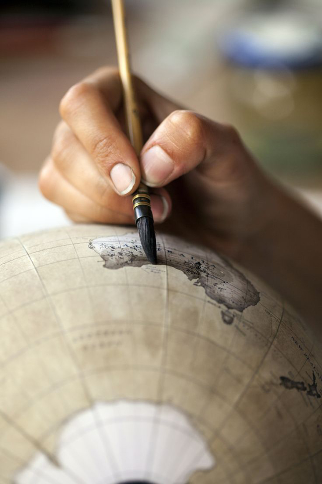 Peter Bellerby, Bellerby and Co. Globemakers, Hackney, London, UK