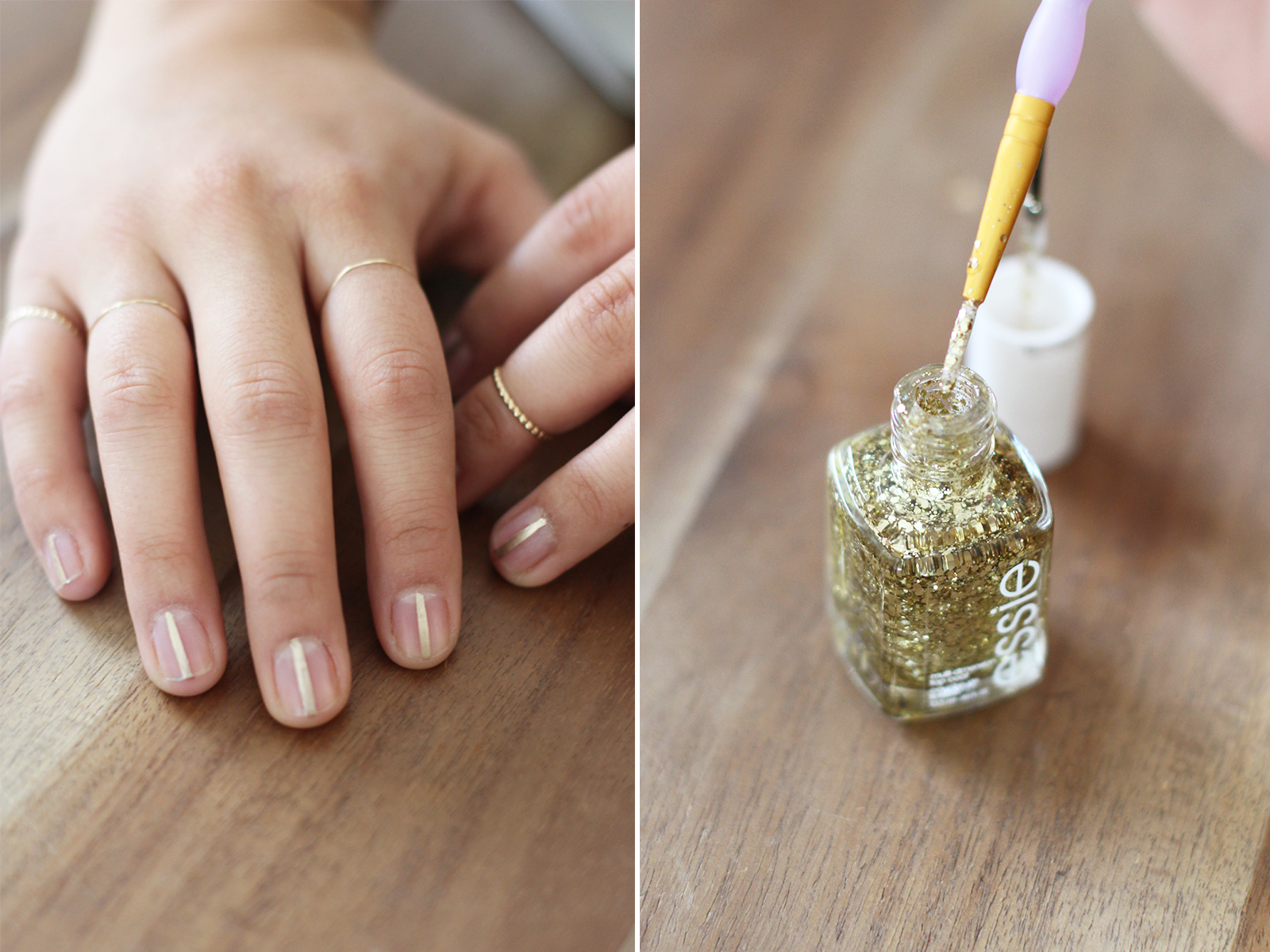 DIY Delpozo Gold Striped Nails – Honestly WTF