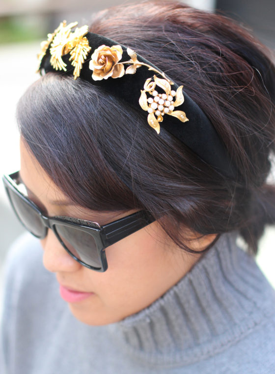 DIY Dolce & Gabbana Vintage Brooch Headband