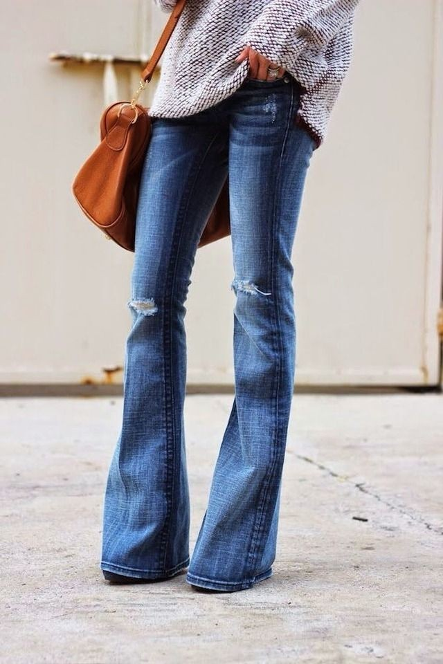 Spotted: Flared Denim