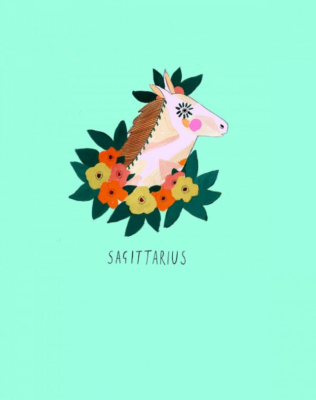 katy-smail-horoscope-illustrations-Sagittarius-750x950