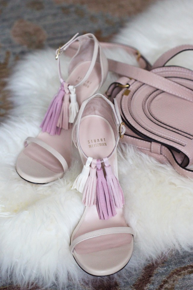 diy fringe heels