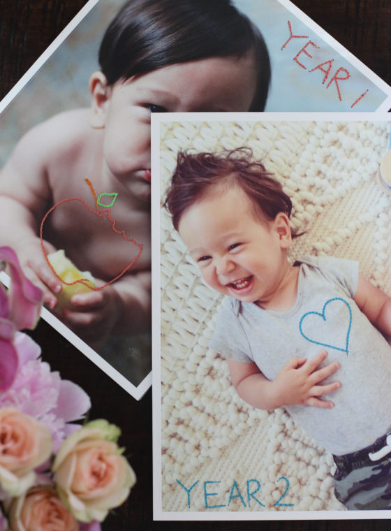 DIY Embroidered Photo Books + Artifact Uprising Giveaway