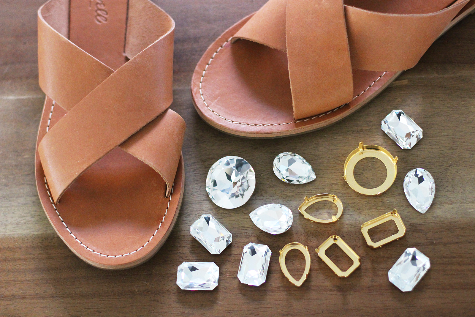 f2beaab31 DIY Jeweled Sandals – Honestly WTF
