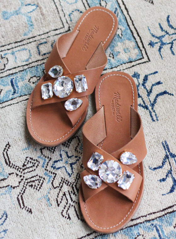 DIY Jeweled Sandals