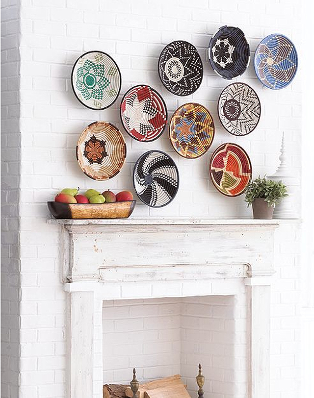 Decorative wall baskets