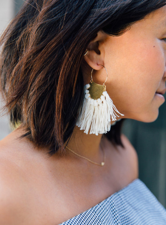 DIY Brass Fringe Earrings