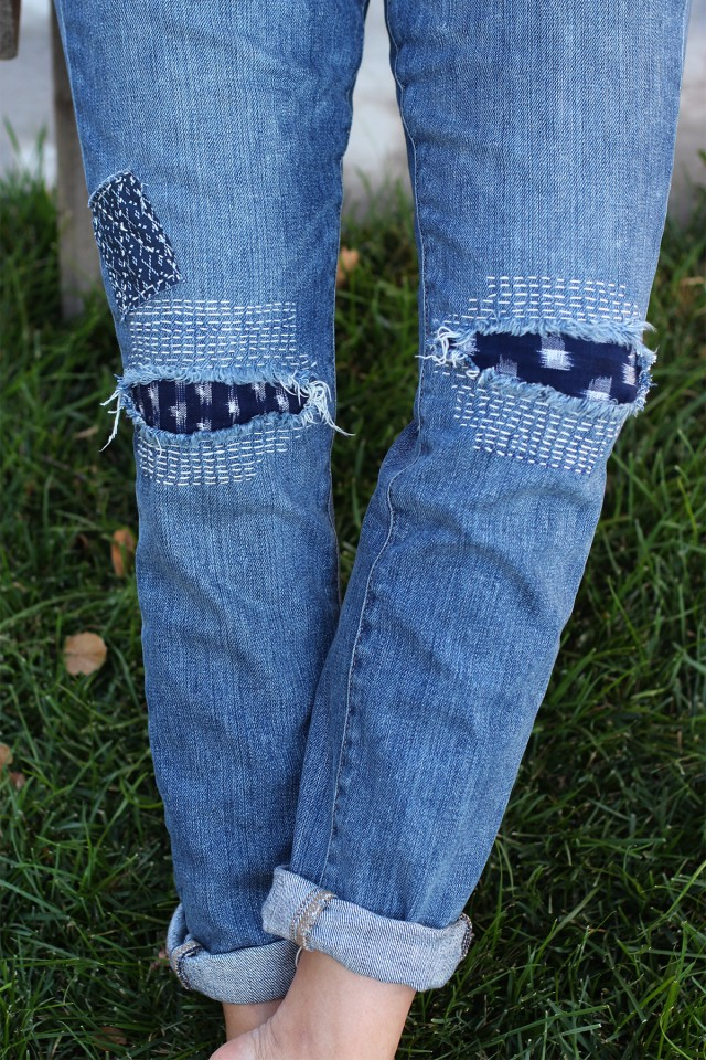 Diy Sashiko Denim Repair Boro