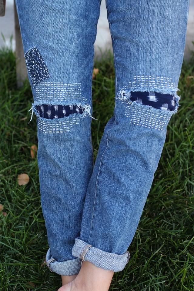 Модные заплатки на джинсы своими руками