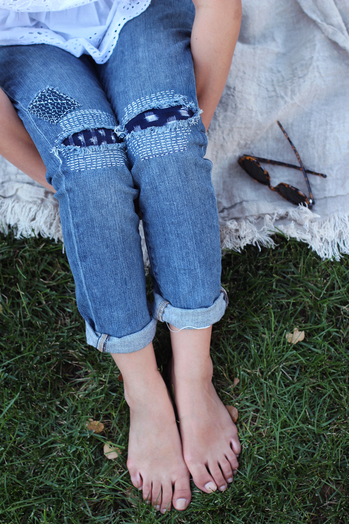 Diy Sashiko Denim Repair Boro Honestly Wtf